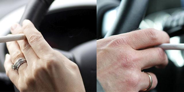 dirigir fumando