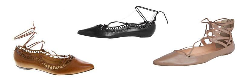 montagem de sapatilha