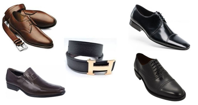 montagem de sapatos masculinos