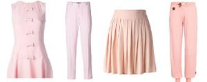 montagem de roupas rosas