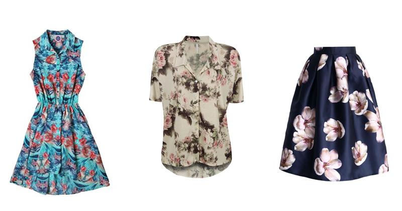 5ba7e1c8a montagem-de-roupas-com-flores. As flores estão presentes na primavera/verão  2017 ...