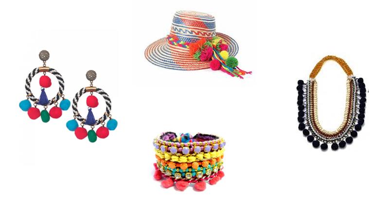 baa89ac0ed Moda  Acessórios – Verão 2017  pompons coloridos em brincos