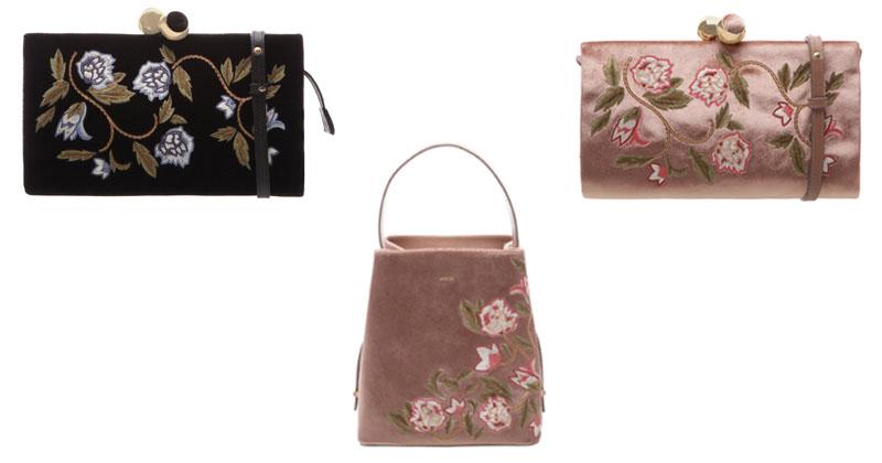 montagem de bolsas bordadas com flores 1 inverno 2017