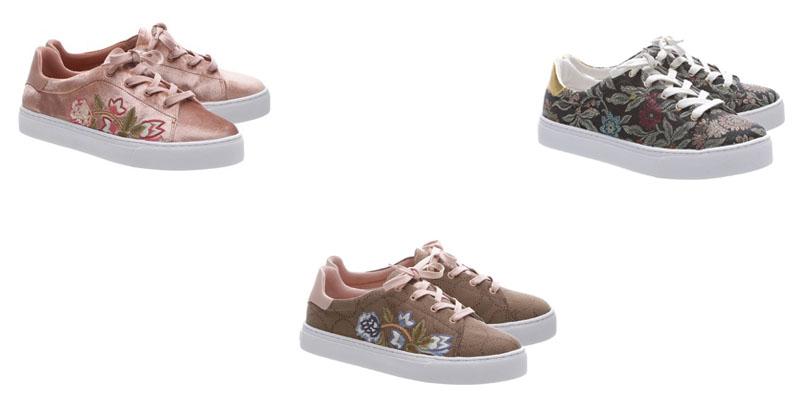 31cec8175 Moda : Acessórios – Bolsas e Sapatos Bordados Com Estampas de Flores ...