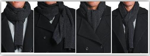 montagem de amarrações masculinas de cachecol 1