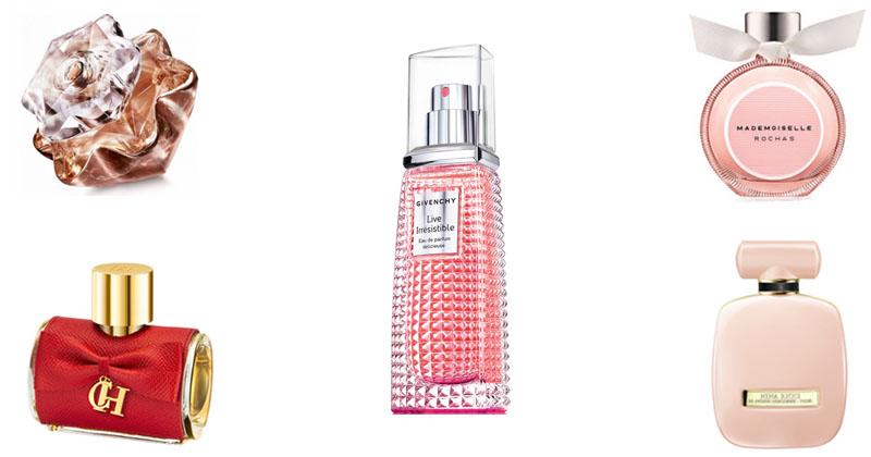 montagem de perfumes femininos julho 2017