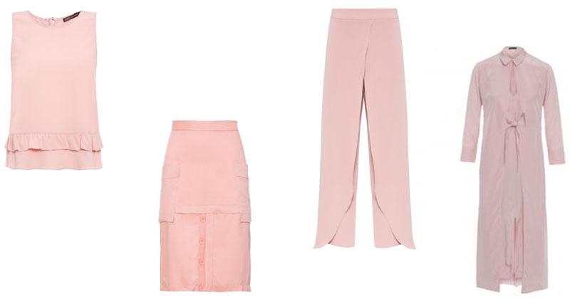 montagem de roupas rosa millennial adicionar