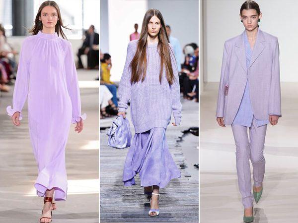 montagem de roupas cor lavanda verão 2018