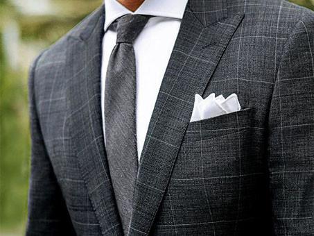 montagem de terno de estampa principe de gales destaque