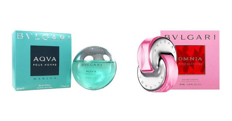 montagem dos perfumes bulgary feminino e masculino- lançamentos julho 2018 destaque