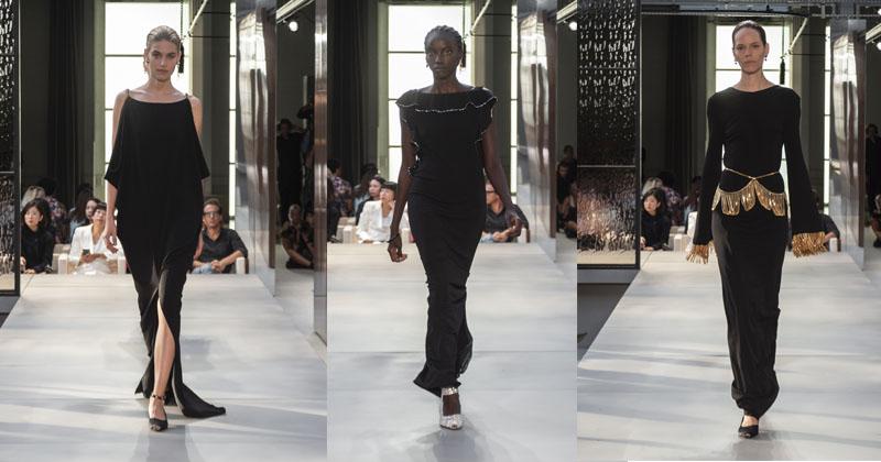 montagem do desfile burberry verão 2019 moda feminina