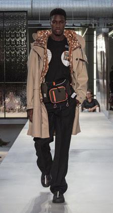 montagem modelo moda masculina burberry setembro 2018