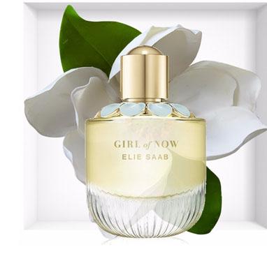 montagem do perfume girl of now de elie saab julho 2019 para o blog
