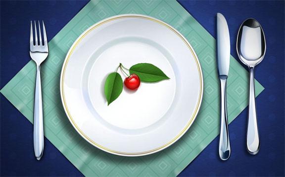montagem de prato com talher blog destaque